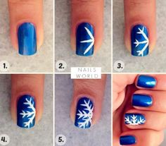 Here is a winter nail art idea! Perfect for all the holiday parties.