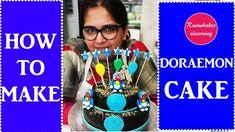 Doraemon theme Chocolate cake decoration design ideas for kids birthday Simple Birthday Cake Designs, Easy Kids Birthday Cakes, Easy Cakes For Kids, Birthday Cake Video, Birthday Cake Gift, Cartoon Birthday Cake, Cake Designs For Girl, Simple Cake Designs, Frozen Birthday Cake