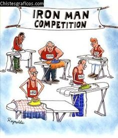 Iron Man Competition -- haha this is too funny! Pin it if you agree! Cartoon Jokes, Funny Cartoons, Funny Comics, Funny Jokes, Hilarious, Really Funny, The Funny, Iron Men, Jokes