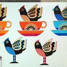 #bird spotting at my desk @illustrator_eye