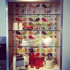 kitchens orla kiely - backsplash idea
