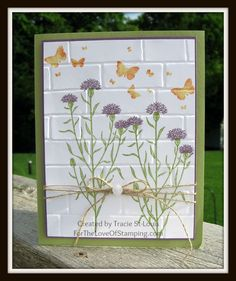 ~For The Love of Stamping~: Brick Wall Embossing folder & Wild About Flowers