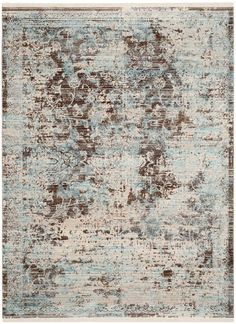 Features: -Vintage Persian collection. -Material: Polyester. -Technique: Power loomed. -Colors: Sky blue, beige and brown. Product Type: -Area Rug. Border: -Yes. Border Color: -Brown; Light blu