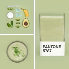 Art director Hedvig Astrom Kushner creates delicious smoothie blends to match #Pantone color swatches.