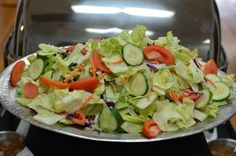 Fresh Green Garden Salad with Tomatoes and Cucumbers
