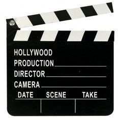 Hollywood Director's Clapboard - we could make these