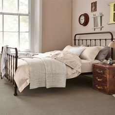 Oliver Bronze King Bed & Lewis Mattress | Feather & Black