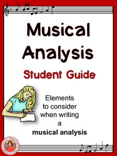 Musical Analysis fir Middle School / Junior High School Students  ♫ This student guide is a FOUR page PDF file that outlines in dot point form the elements of music that need to be considered when writing a musical analysis!   ♫ CLICK through to read more or save for later!  ♫