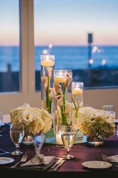 Purple and Cream Themed Reception - Beach Weddings at The Sunset - Malibu, California - Photography: www.luminaireimages.com
