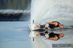 #Wakeboarder on glass like water @TimedPerfectly
