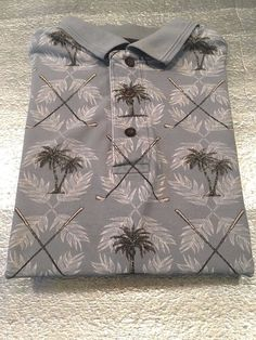 Men's WINDHAM POINTE Golf Polo Shirt - Palm Trees Golf Clubs - Size L