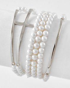 6 Piece Stackable Bracelet Set, $12