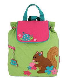 Another great find on #zulily! Green Squirrel Quilted Backpack #zulilyfinds