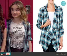 Maya's plaid shirt on Girl Meets World.  Outfit Details: http://wornontv.net/48945/ #GirlMeetsWorld