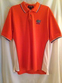 Florida Gators College Classics Moisture Wear Orange Golf Polo M Short Sleeve #CollegeClassics #PoloRugby