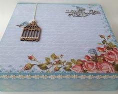 Caixas decoradas - artesanato em madeira