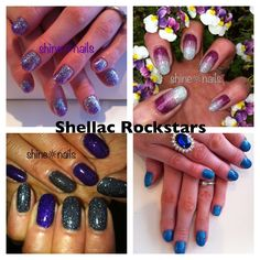 Embed your Shellac with glitter for the ultimate long lasting Rockstar Nails!