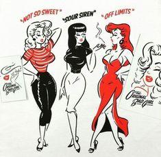 35 trendy tattoo ideas female inspiration pin up Vintage Cartoon, Vintage Comics, Cartoon Art, Vintage Art, Vintage Pins, Girl Cartoon, Retro Kunst, Retro Art, Kida Disney