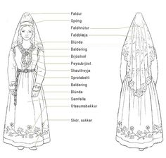FolkCostume&Embroidery: Þjóðbúningurinn, National costumes of Iceland, part 4, Skautbúningur and Kyrtill