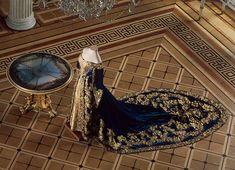 Court dress of Empress Alexandra Fyodorovna, 1890's, from the STATE HERMITAGE MUSEUM