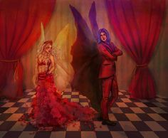 """""""I can't take my eyes off you."""" Morpheus and Alyssa in the Rabbit hole in Untamed."""