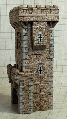 Hirst Arts, Medieval Party, Dice Tower, Warhammer Terrain, Castle Wall, Wargaming Terrain, Witch House, Fantasy Miniatures, Miniature Houses