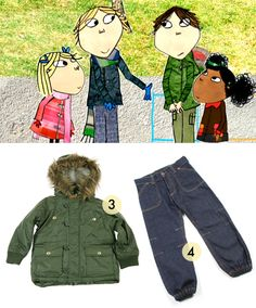 Charlie and Lola - Mini Rodini Parka - Jeans Street Trousers