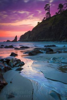 Sunset along the beaches of the Pacific Northwest in Olympic National Park  By Kyle Spradley