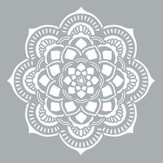 "Americana Decor Stencil 18""X18""-Mandala: Amazon.fr: Cuisine & Maison"