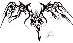 Cool angel tatoo by on deviantART photo Fallen Angel Tattoo, Tattoo Outline, Tatoos, Moose Art, Deviantart, Tribal Designs, Animals, Angel Wings, Paintings