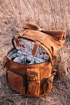 Full Leather Rucksack - Blush Fable Floral - House of Flynn - Since electronic devices such as mobil.