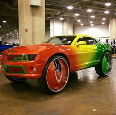 Just plain wrong on so many levels! Except HotWheels Pimped Out Cars, Rims For Cars, Car Rims, Custom Wheels, Custom Cars, Old American Cars, Donk Cars, Weird Cars, Sexy Cars