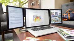This bolt-on monitor gives your MacBook up to two more Retina displays