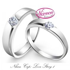 Nhẫn Cặp Love Story 1 - Rings couple Love story 1