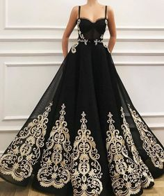 This black ball gown can be recreated in any color combination you need. The #gold embroidery on the #black makes a great #fashion statement. We are in the #USA and specialize in makeing #custom #ballgowns & #eveningdresses for #women for all types of #formal #special occasions.  If your dream dress is more than you can afford we can also make a #replication of the design for you that will have the same #style but cost much less than the #original.  Email us for more info on #womensclothing.