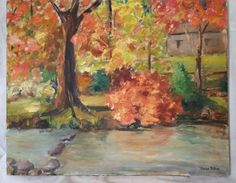 Vintage 1968 NY American Impressionist Oil Painting Mid Century Modern Signed #Impressionism
