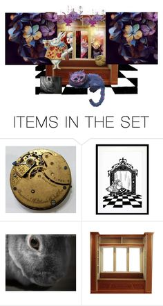 """""""Through the Looking Glass"""" by lvoth ❤ liked on Polyvore featuring art"""
