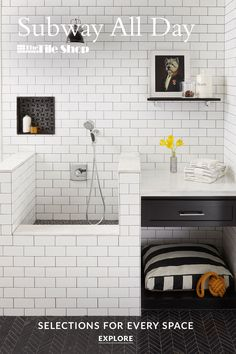 Let us help you create your dream kitchen, bathroom or shower with popular subway tile. Laundry Mud Room, Mudroom Laundry Room, Remodel, Bathrooms Remodel, Home Remodeling, Home, Interior Design Living Room, Bathroom Design, Laundry Room Design