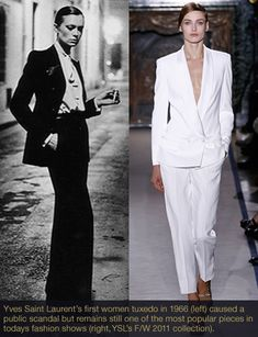 d86c4f60642 Fashion History Classics: Who invented the Women's Tuxedo? In 1966 fashion  designer Yves Saint Laurent changed everything. He created the first women's  ...