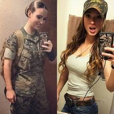 Beautiful badasses in (and out) of uniform (41 Photos) – theCHIVE Mädchen In Uniform, Girls In Uniform, Female Soldier, Female Marines, Army Soldier, Military Girl, Military Women, Girls Uniforms, Badass Women