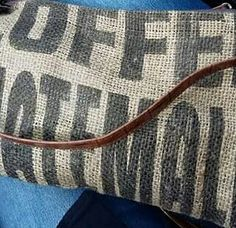 coffee bean sack fabric original upcycled hand bag! Coffee Bean Sacks, Upcycle, Reusable Tote Bags, Textiles, Facebook, Fabric, Instagram, Design, Tejido