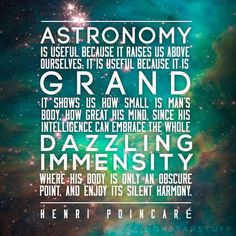 Astronomy is grand