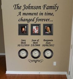 Time Stood Still Family Clock Wall Decal by GiftQueenGifts on Etsy, $31.99