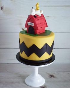 Snoopy Cake for Second Birthday