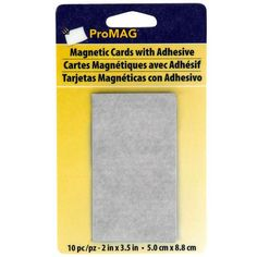 "Pro MAG Magnetic Cards with Adhesive, 2"" x 3.5"""