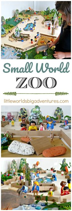 How to create a small world zoo with everyday recycled materials. The perfect activity for preschoolers to encourage creativity and spark imagination. | Little worlds Big Adventures