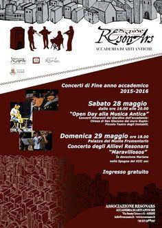 L'Accademia ResonArs, in occasione dei concerti di fine anno accademico, propone due appuntamenti dedicati alla musica antica.