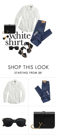 """The White Shirt"" by juliehooper ❤ liked on Polyvore featuring J.Crew, Cheap Monday, Pierre Hardy, Mulberry, Bling Jewelry and WardrobeStaples"