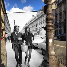 "During Men's Fashion Week, Esquire magazine Fashion director, Nick Sullivan, has been making the rounds and also posting some fun ""double take"" photos on Instagram. 