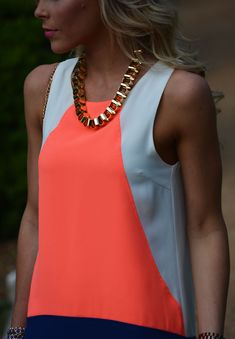 bright colorblocking & gold http://happilygrey.com/colorblock-shift/